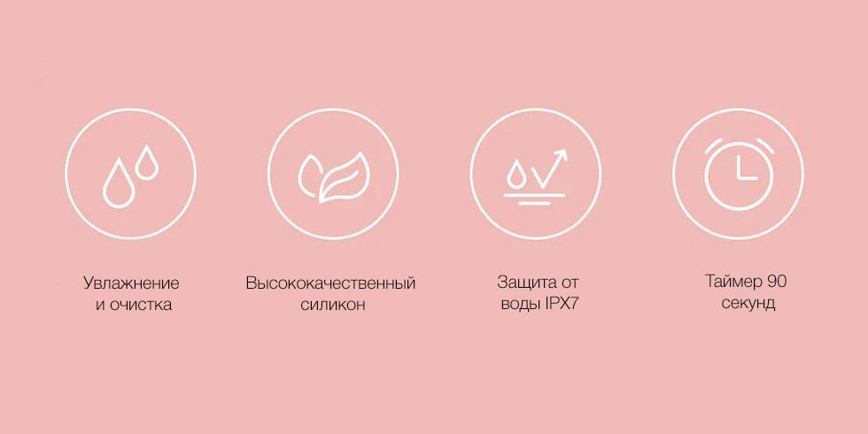 Аппарат для ультразвуковой чистки лица Xiaomi inFace Electronic Sonic Beauty Facial (розовый)