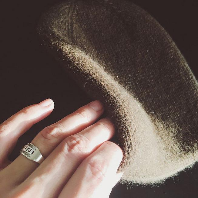 шапка из пуха яка