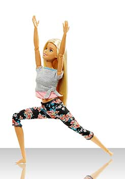 Барби Йога - блондинка