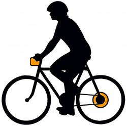 Заднее мотор-колесо и аккумулятор на руле в сумке