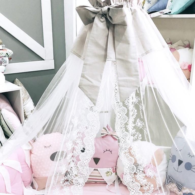 Комплект детского постельного белья с балдахином
