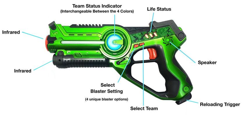 Схема пистолета для лазертага