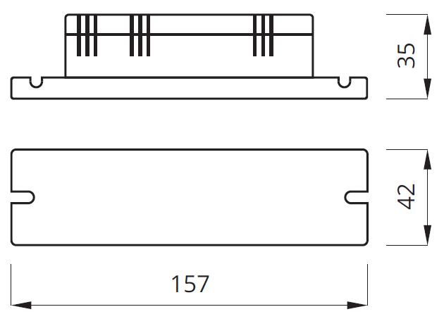 Размер для блока аварийного питания LED GU10