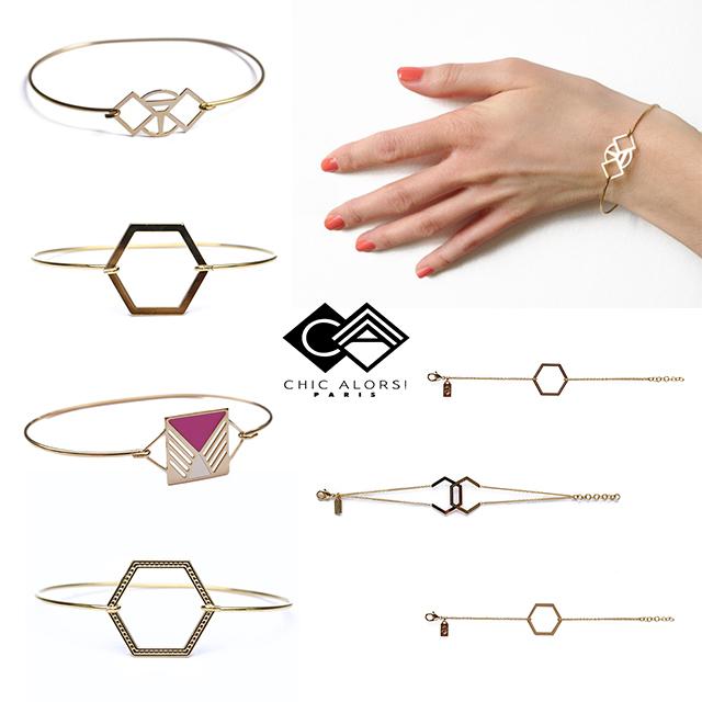 изящные браслеты из позолоченной латуни от CHIC ALОRS Paris