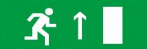 Направление к выходу прямо (правосторонний) - световое табло Люкс