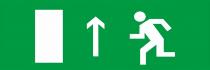 Направление к выходу налево (правосторонний) - световое табло Люкс