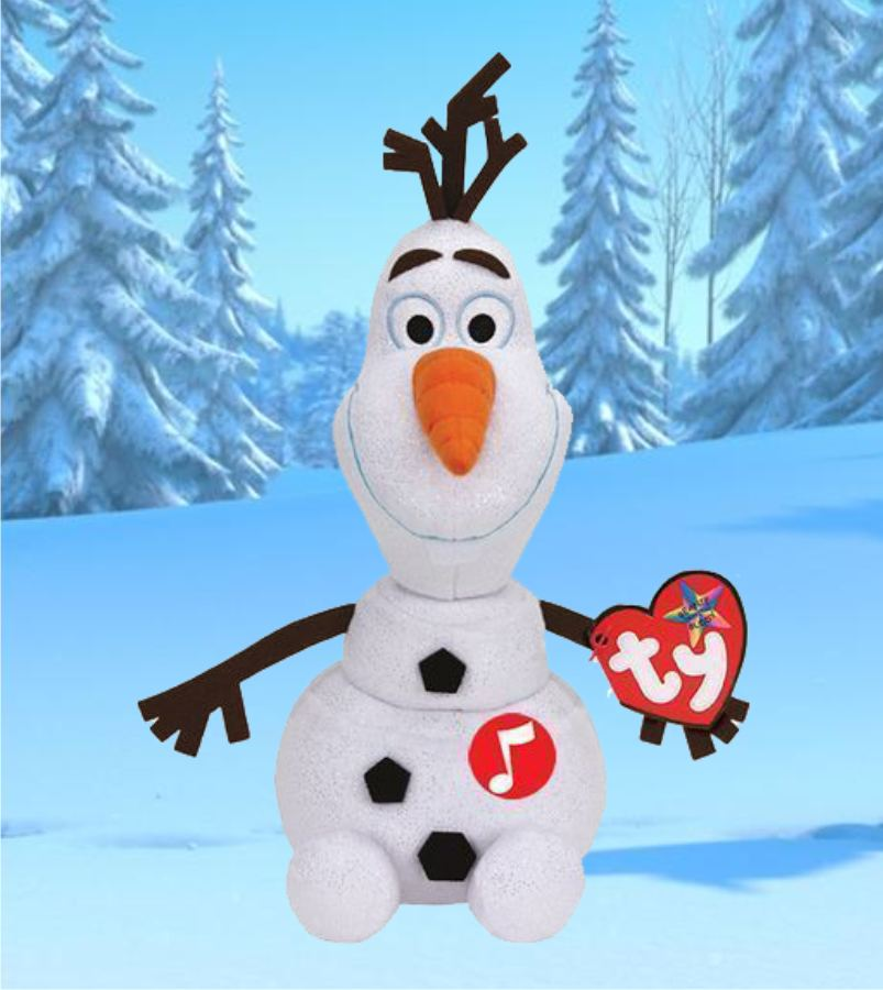 Игрушка снеговик Олаф, плюшевый 25 см
