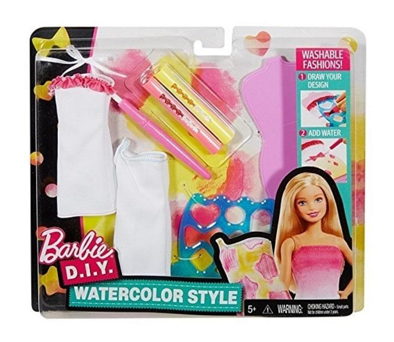 Игровой набор из акварелей для одежды кукол Барби