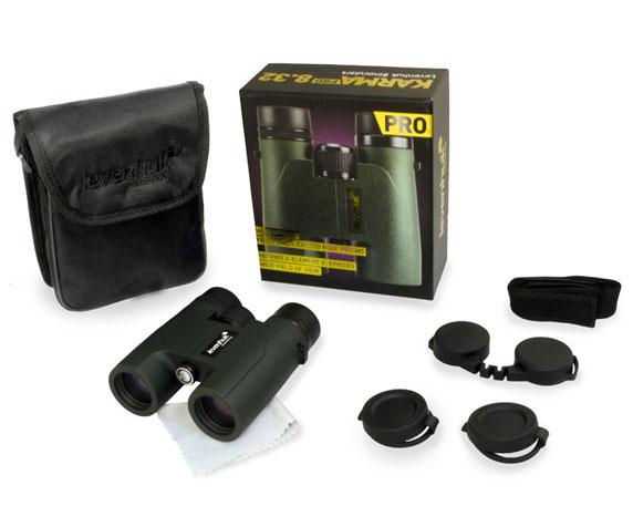 Бинокль Levenhuk Karma Pro 8x32: комплект поставки