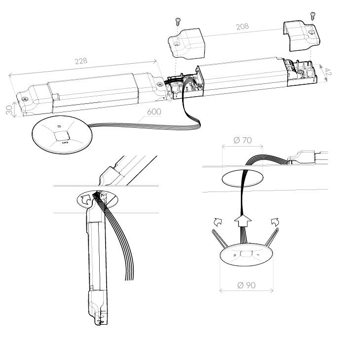 Монтаж светильника аварийного освещения ONTEC C