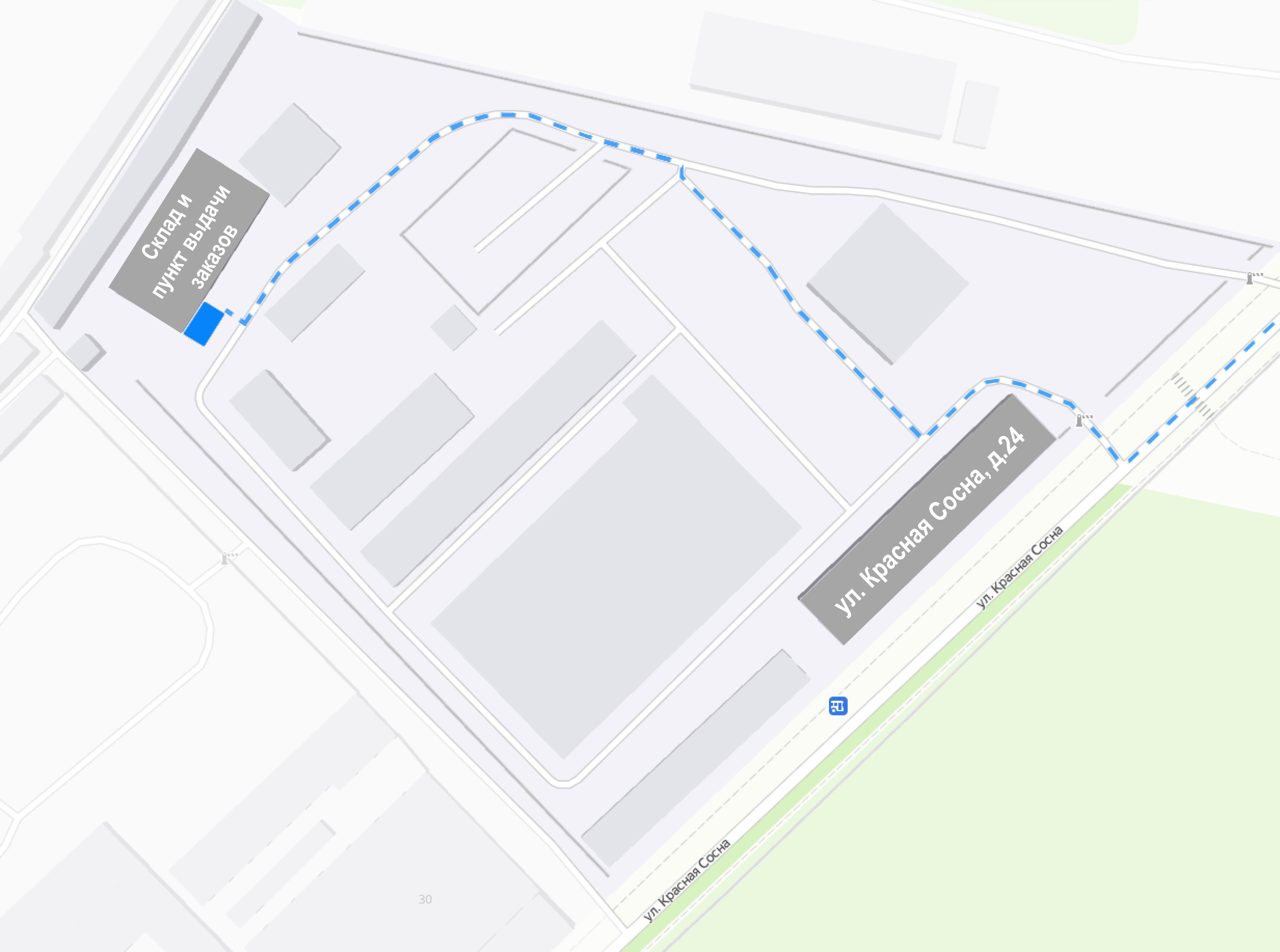 Схема проезда по территории - Хайтед-Сервис