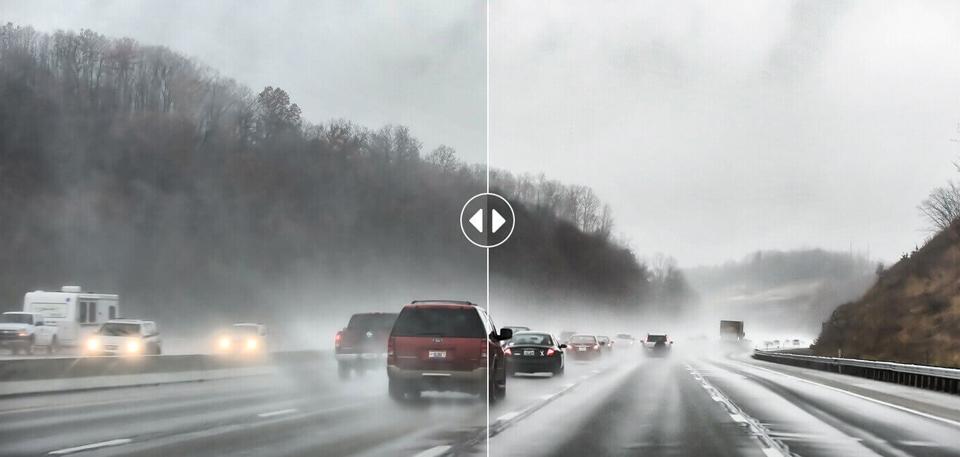 Видеорегистратор 70mai Dash Cam Pro съемка в плохих погодных условиях