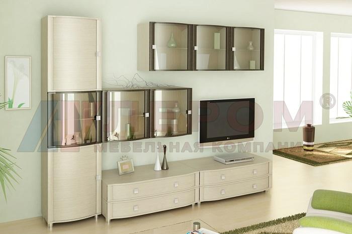 ОЛИВИЯ Мебель для гостиной в цвете Дуб Беленый