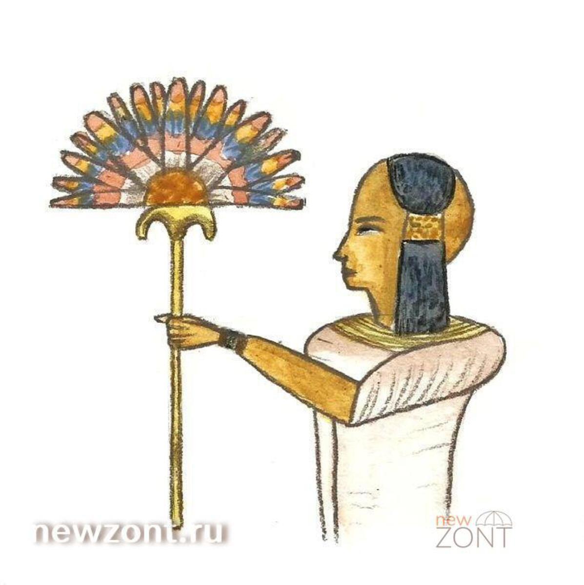 История зонтов. Египет