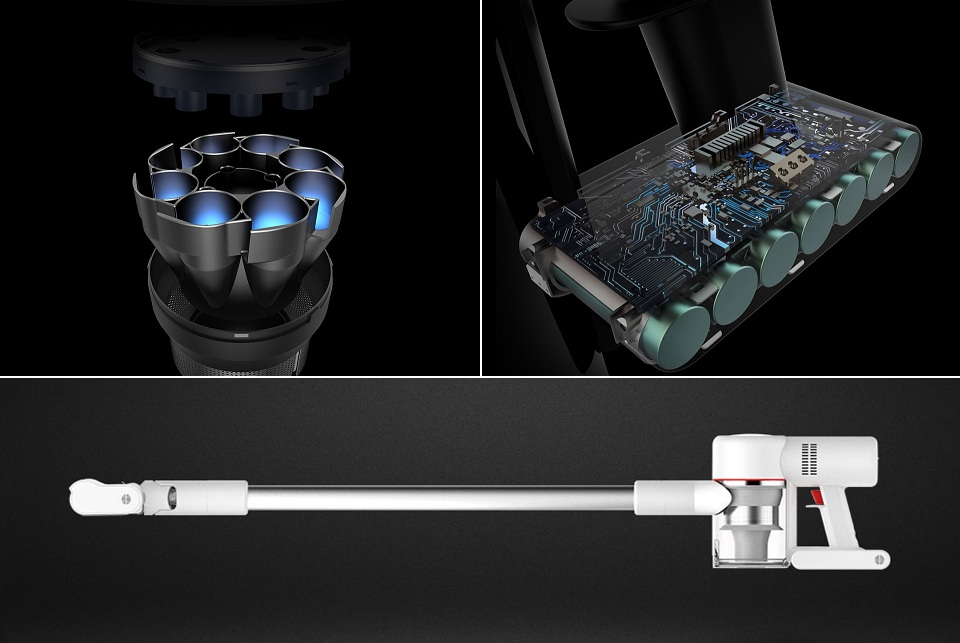 Беспроводной ручной пылесос Xiaomi Dreame V9 Vacuum Cleaner  длительность работы