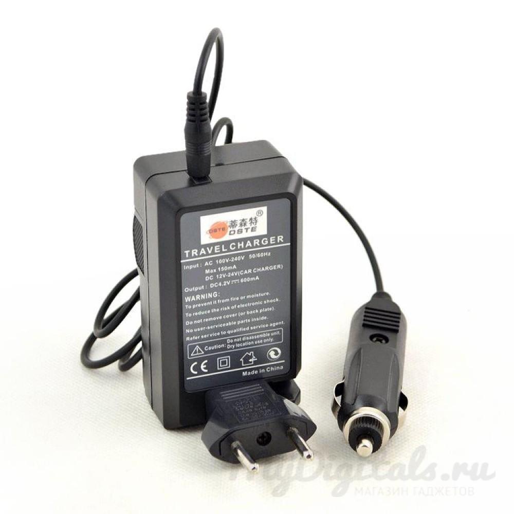 Универсальное зарядное устройство для 1 аккумулятора GoPro Hero 3 (от сети и в авто)