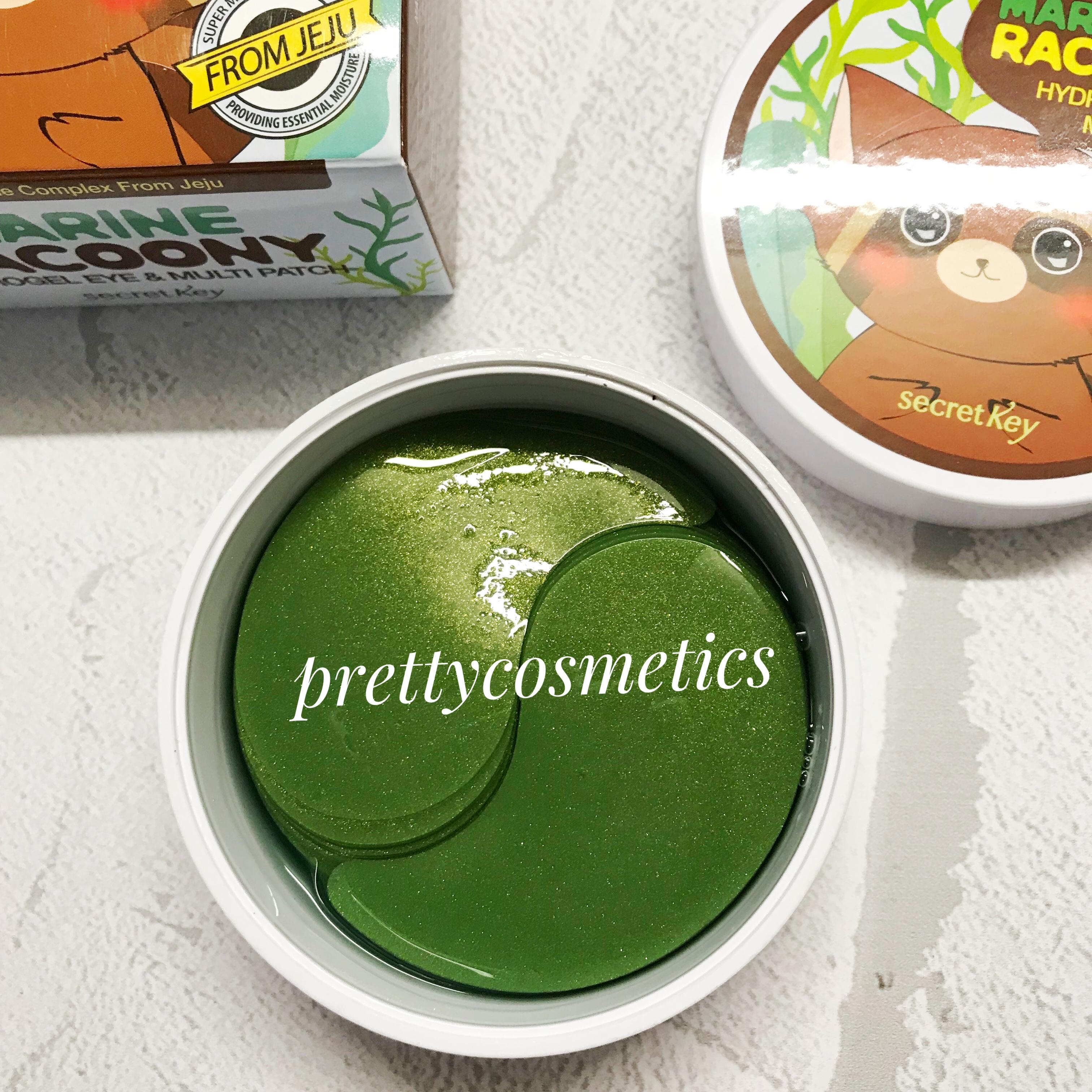 гидрогелевые патчи для глаз с алое и зеленым чаем Secret key Marin Racoony Hydrogel Eye & Multi Patch