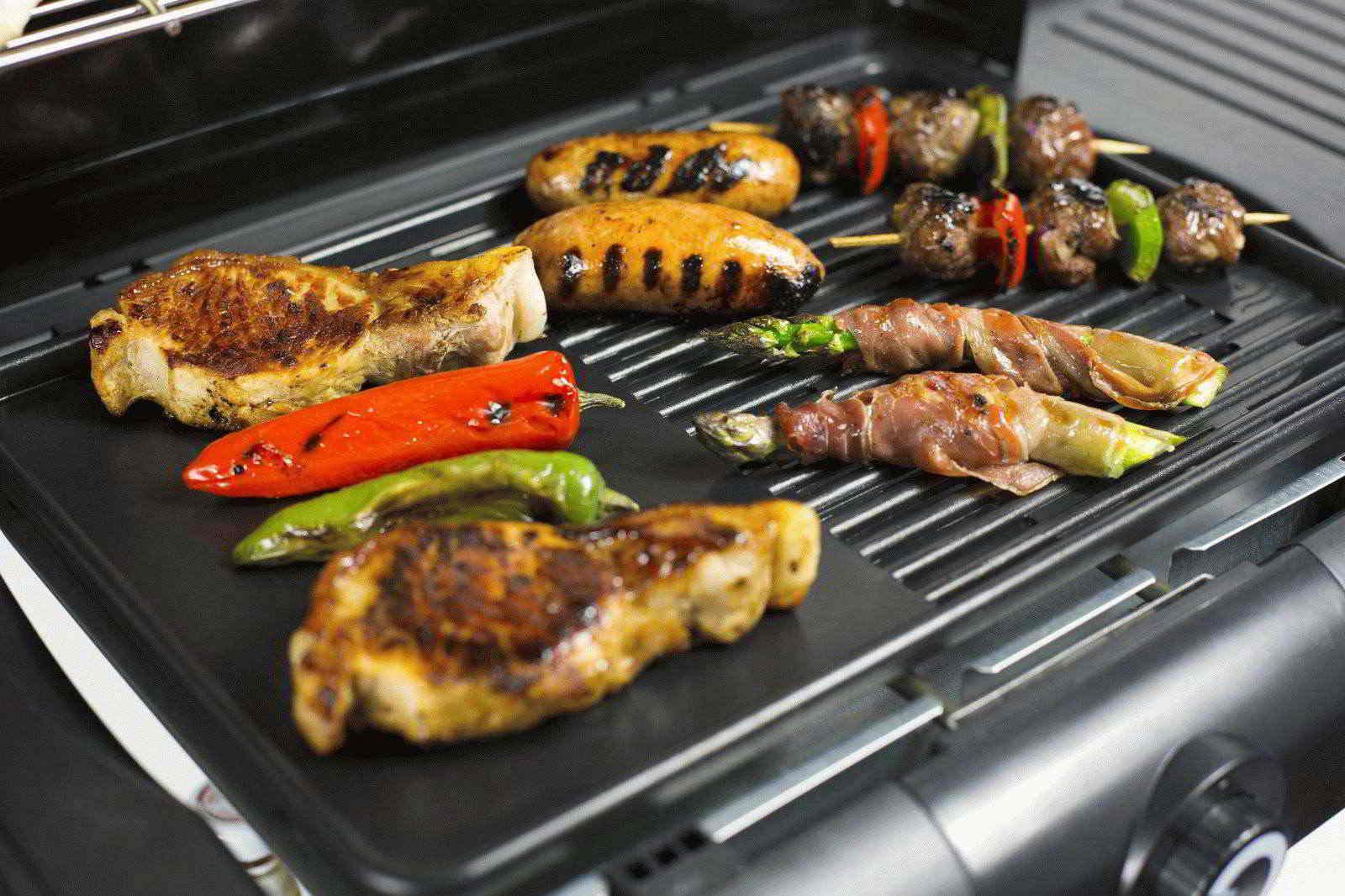 Время приготовления различных блюд на гриле