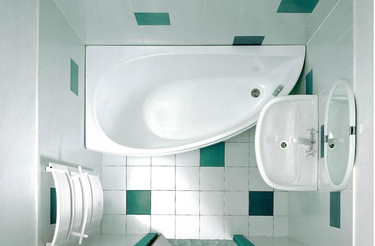 Асимметричная ванна из акрила для дома