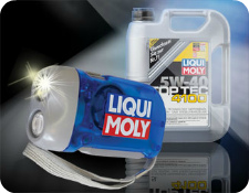 Фонарик подарок к моторному маслу Liqui moly Top Tev 4200