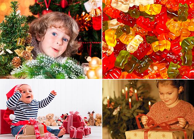 Детские сладкие новогодние подарки