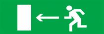 Направление к выходу налево - световое табло Молния