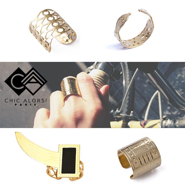 кольца из позолоченной латуни от CHIC ALORS Paris