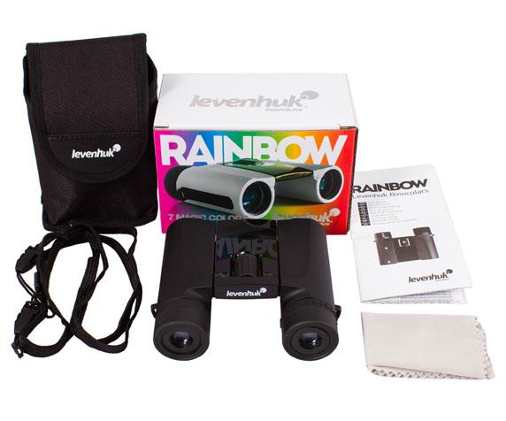 Бинокль Levenhuk Rainbow 8x25 Black Tie: комплект поставки