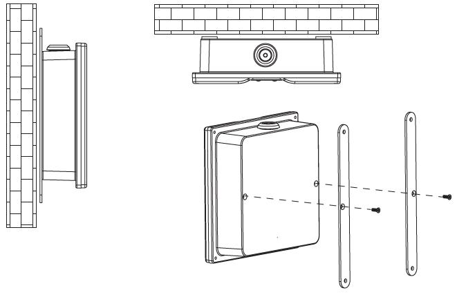 Светильники аварийного освещения помещений и зон повышенной опасности устанавливаются к потолку или на стены