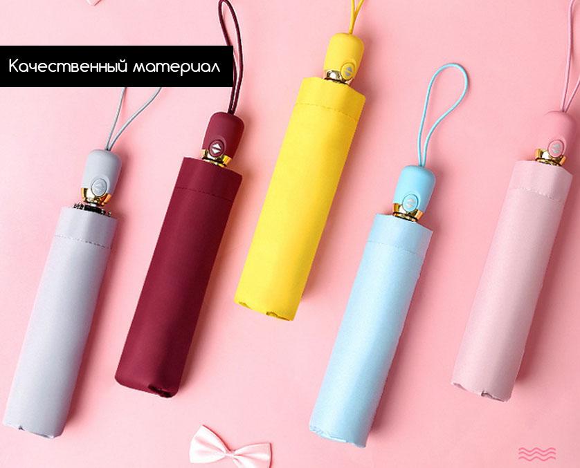 Зонт бордовый складной автомат | ZC Kollo design design