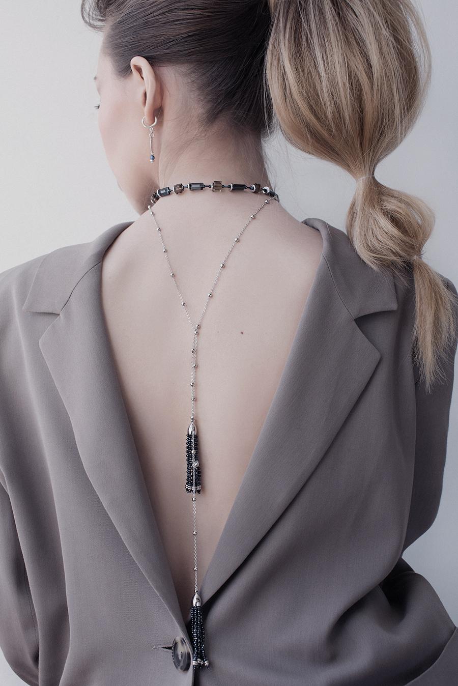 Асимметричные серьги серебро, бижутерия мариза