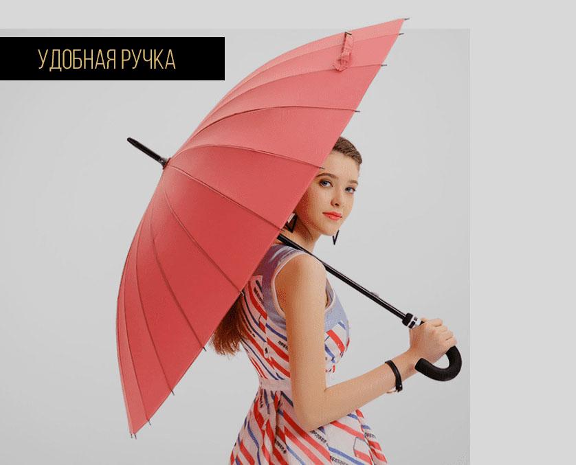 Синий зонт трость с проявляющимся рисунком   zc pelaratti design