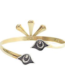 двухцветный браслет из бронзы и серебра от MAVA HAZE