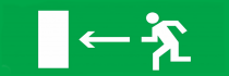 Направление к выходу налево - световое табло Молния ГРАНД