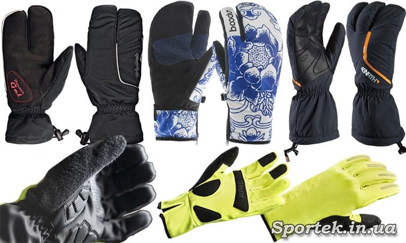 3-х, 4-х і 5-ти палі Велосипедні рукавички