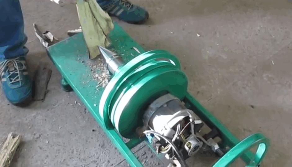 винтовой дровокол с двигателем