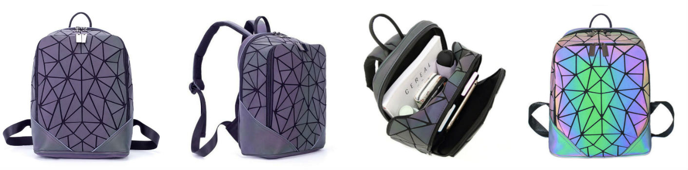 геометрический неоновый рюкзак Хамелеон