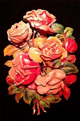 Готовая работа папертоль Цветочная композиция.