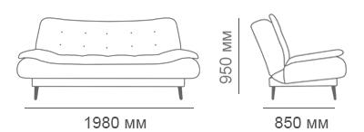 габаритные размеры дивана Сити-С