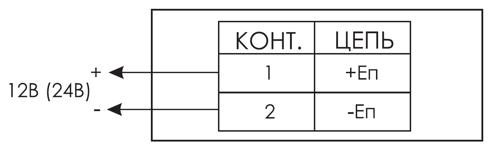 Схема подключения светового оповещатели ЛЮКС-12-CH / ЛЮКС-24-СН