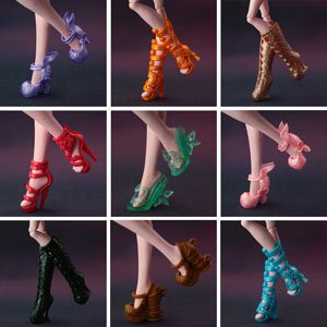 Обувь для кукол Монстер хай красные туфли