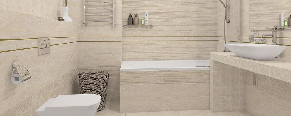 Экран под ванну с керамической плиткой