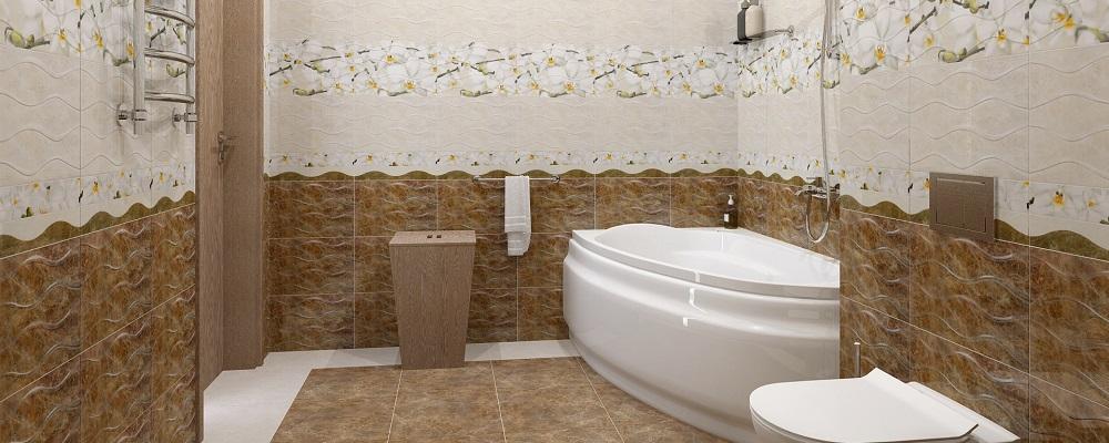 Акриловый экран для асимметричной ванны