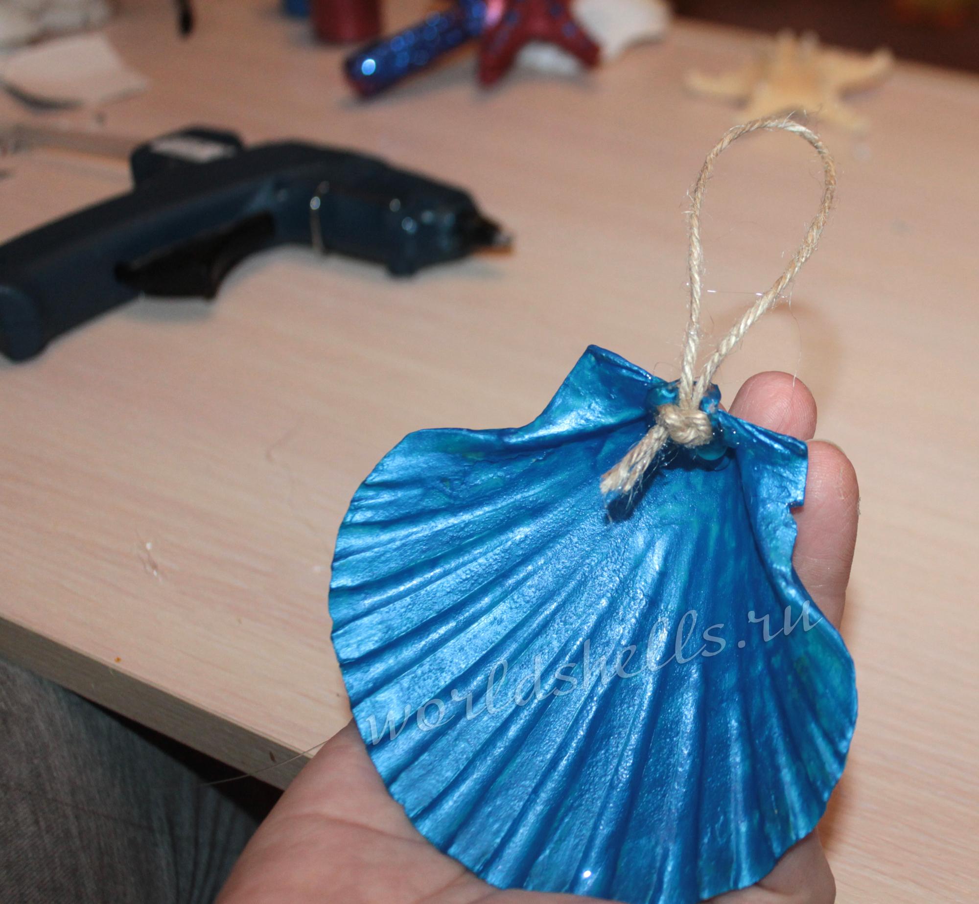 Ракушка с петлей для подвеса