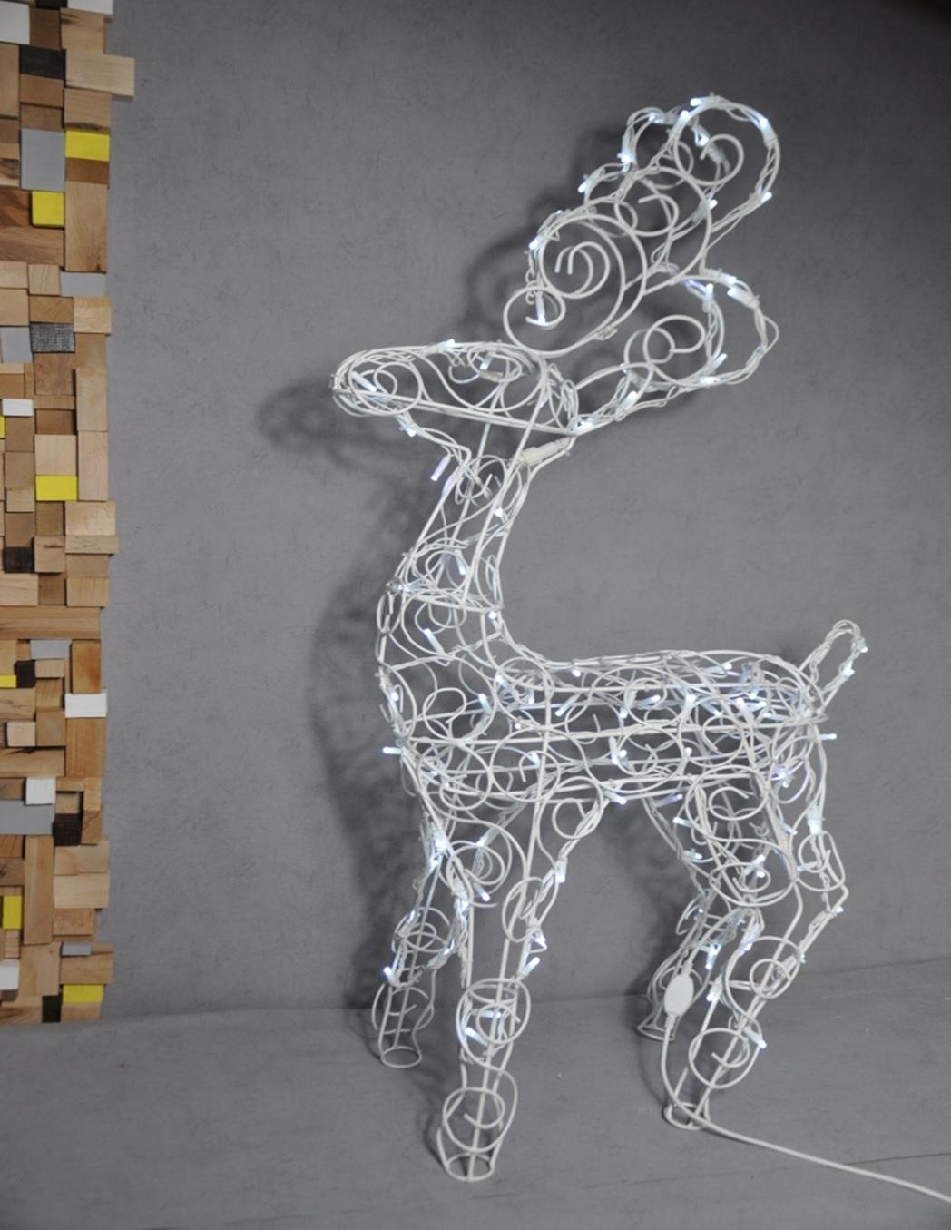 Новогодний олень led из гирлянд уличных фигура