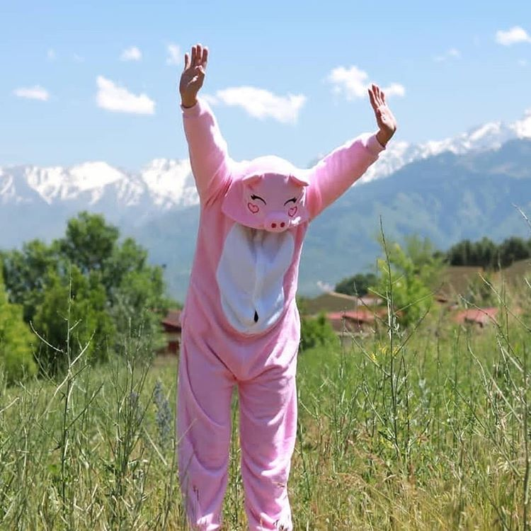 пижама поросенок розовый