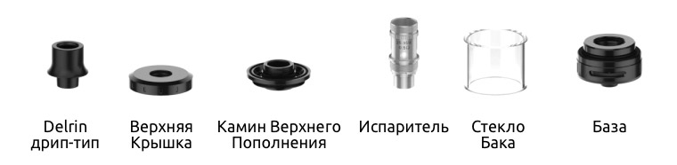 Компоненты Атомайзера Digiflavor Bucho