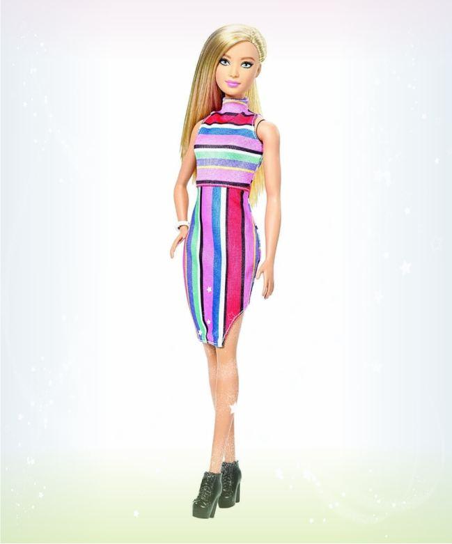 Кукла Барби Игра с модой Платье в полоску