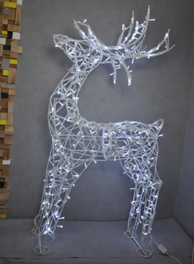 Уличные фигуры олени из гирлянд led