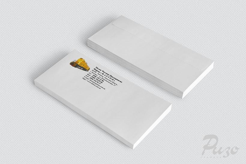Конверт с фирменным логотипом